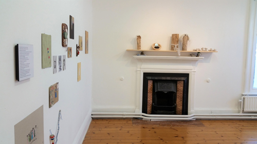 Exhibition image of work by Cherry Dowling