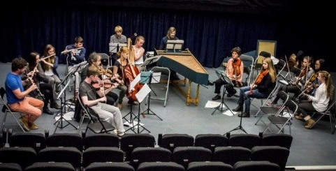 Members of Sligo Baroque Orchestra rehearsing in The Model, Sligo